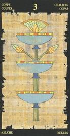 Тройка Чаш. Египетское Таро