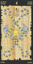 Четверка Жезлов. Египетское Таро