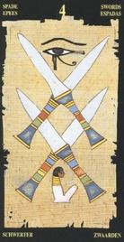 Четверка Мечей. Египетское Таро