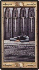 Четверка Мечей. Таро Универсальный Ключ