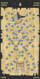 Шестерка Жезлов. Египетское Таро