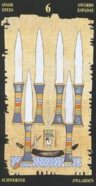 Шестерка Мечей. Египетское Таро