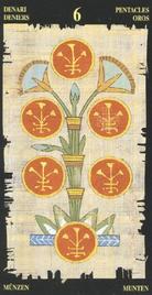 Шестерка Пентаклей. Египетское Таро