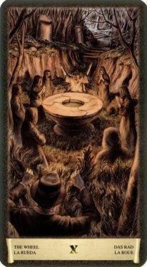 10 Колесо Фортуны. Таро Черный Гримуар (Некрономикон)