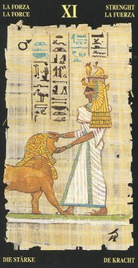 11 Сила. Египетское Таро