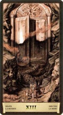 13 Смерть. Таро Черный Гримуар (Некрономикон)