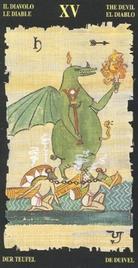 15 Дьявол. Египетское Таро