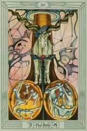 15 Дьявол. Таро Тота Алистера Кроули