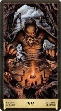 15 Дьявол. Таро Черный Гримуар (Некрономикон)