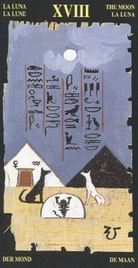 18 Луна. Египетское Таро