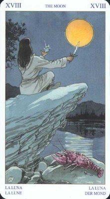 18 Луна. Колода Языческого Таро (Белой и Черной магии)