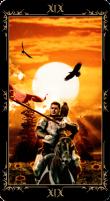 19 Солнце. Колода Таро Темных Сказок