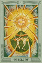 19 Солнце. Таро Тота Алистера Кроули