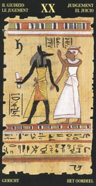 20 Суд. Египетское Таро