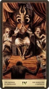 4 Император. Таро Черный Гримуар (Некрономикон)