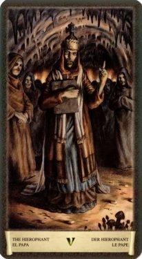 5 Иерофант. Таро Черный Гримуар (Некрономикон)