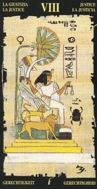 8 Справедливость. Египетское Таро