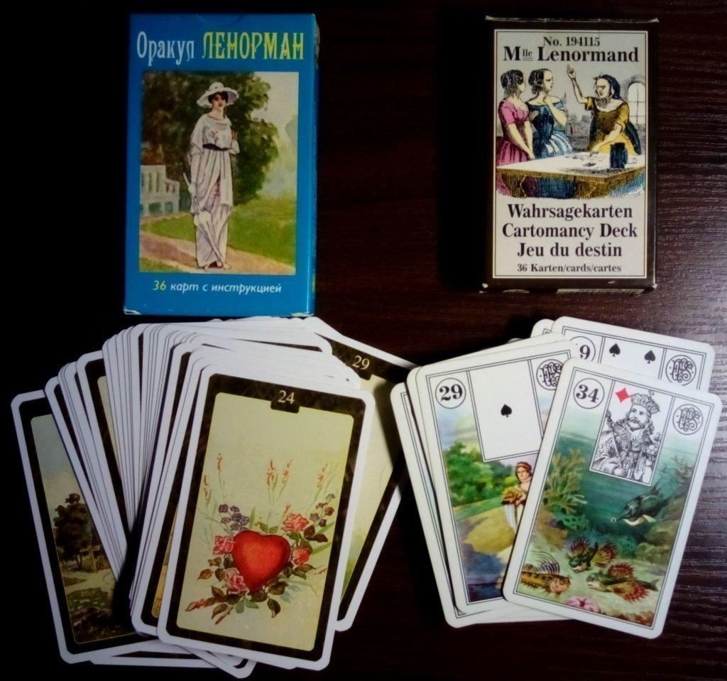 Две колоды карт Ленорман