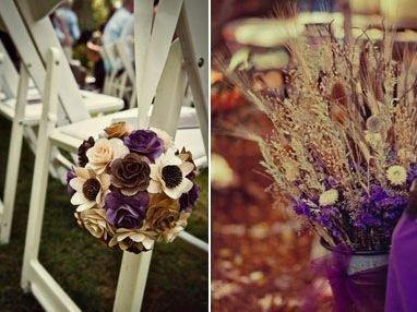 Свадьба в октябре 2020: фиолетовый и беж