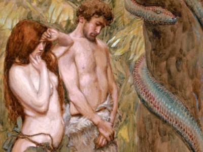 Адам и віжеволосая Лилит
