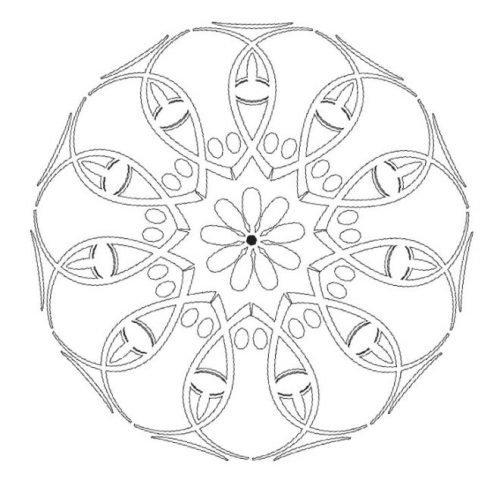 Мандала от коронавируса