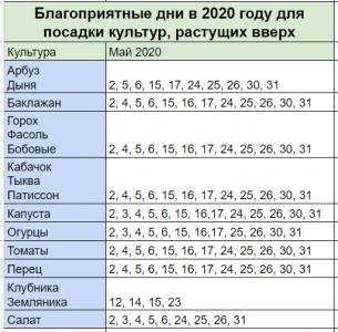 лунный календарь садовода и огородника на май 2020 года. Растущие вверх культуры